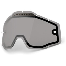 100% Vented Dual Replacement Lenses, dual smoke / clear